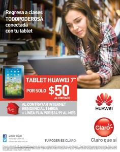 promociones CLARO el salvador TABLET HUAWEI regresa a clases - 30ene14