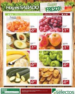 sabado super fresco ofertas SUPER SELECTOS frutas y verduras - 04ene14