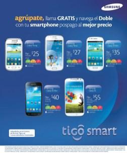 Agrupate llama GRATIS navega DOBLE samsung smartohoneTIGO