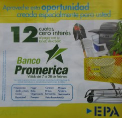 Banco Promerica descuento oportunidad EPA el salvador - feb 2014