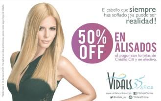 El cabello alisado que siempre soñaste DESCUENTO Vidals - 28feb14