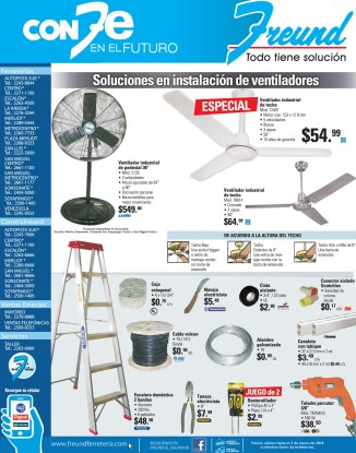 Ferreteria FREUND el salvador soluciones electricas y ventiladores - 10feb14
