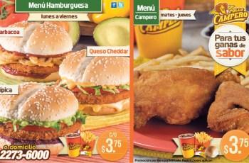 Ganas de sabor promociones POLLO CAMPERO el salvador menus - 19feb14