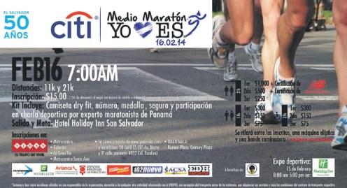 Medio Maraton EL SALVADOR participa