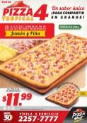 PIZZA HUT el salvador nueva pizza 4 jamon y piña - 12feb14