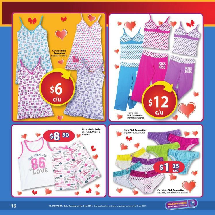 Pijamas ropa interior Walmart Guia de compras No3 2014