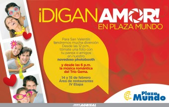Plaza Mundo el salvador DIGAN AMOR promocion