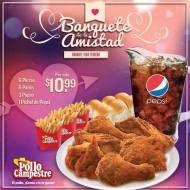 Pollo Campestre-Banquete durante todo febrero-pollo-panes-papas-pepsi