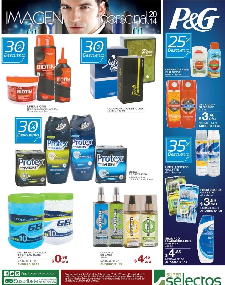 Productos P&G imagen personal SUPER SELECTOS el salvador - 08feb14