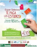 Promociones BECAS de estudio SUPER SELECTOS el salvador - 25feb14