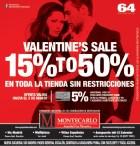 San Valentin SALE descuentos en toda la tienda MONTECARLO