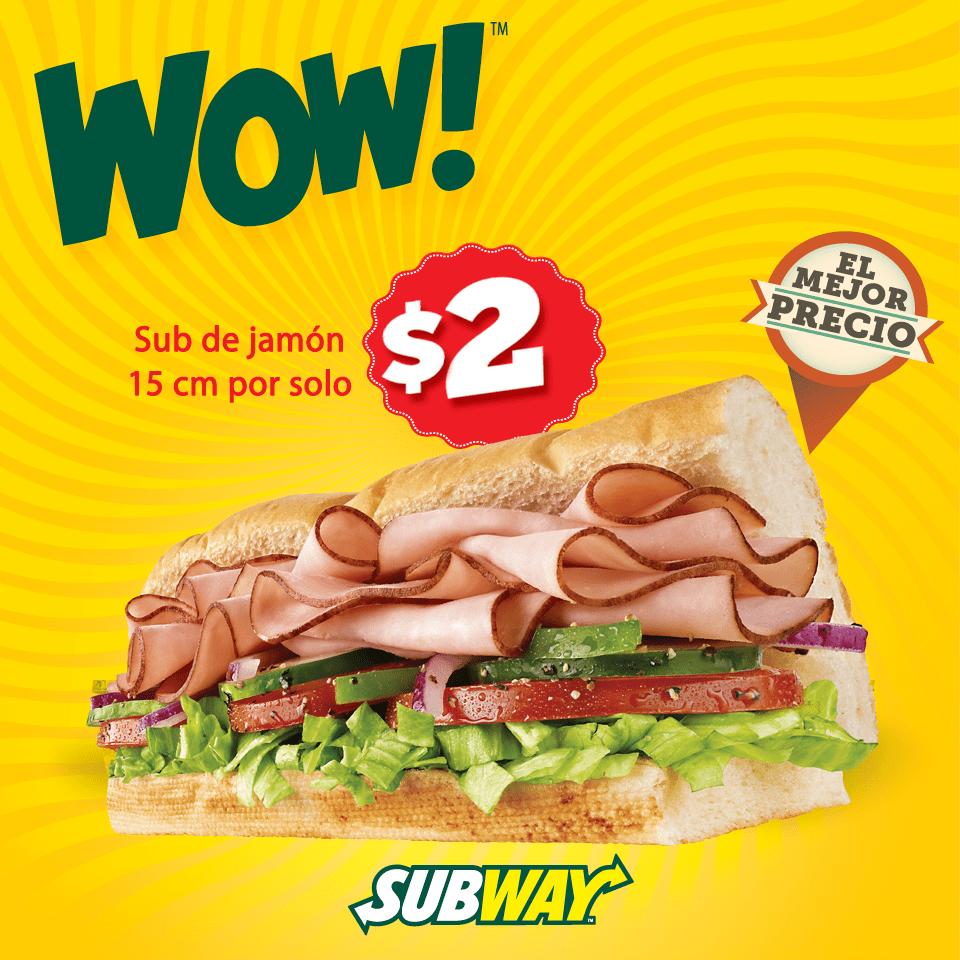 Subway El Salvador WOW promocion