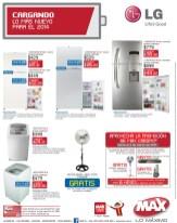 Tiendas MAX lo mas nuevo en ELECTRODOMESTICOS LG - 28feb14