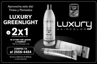 Tintes y Peroxidos LUXURY GREENLIGHT 2x1 - 25feb14