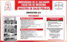 Universidad de El Salvador MAESTRIA en salud publica - 24feb14