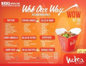 comida asiatica Menu Wokco El Salvador