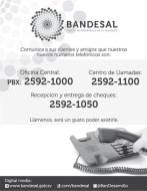 nuevos telefonos BANDESAL - 12feb14
