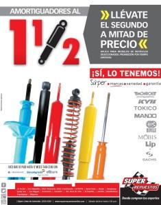 AMORTIGUADORES segundo a mitad de precio SUPER REPUESTOS sv - 24mar14