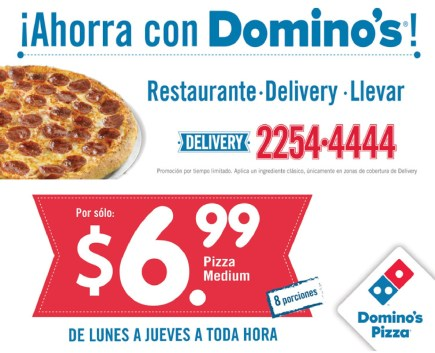 Ahorra con DOMINOS Pizza el salvadro DELIVERY - 03mar14