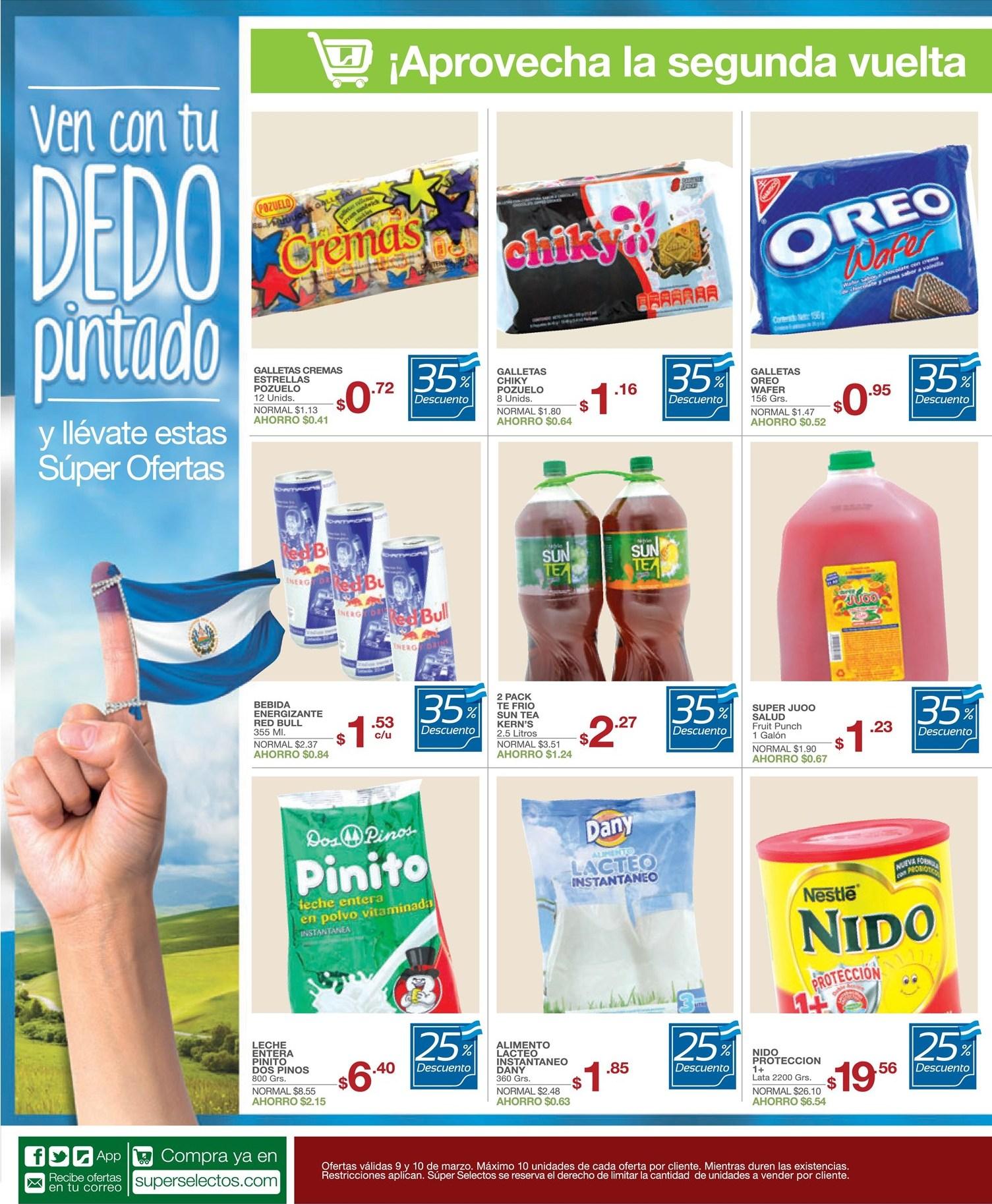 Aprovecha la segunda vuelta SUPER SELELECTOS ofertas descuentos promociones - 09mar14