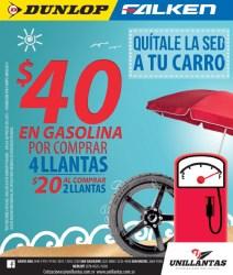 Bono 40 dolares de gasolina UNILLANTAS - 12mar14
