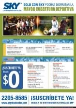 Cobertura mundial de Deportes SKY television - 03mar14