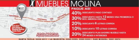 Descuentos MUEBLES MOLINA el salvador - 11mar14