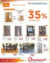 Descuentos salas muebles CONTINENTAL verano OMNISPORT - 07mar14