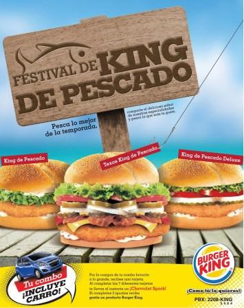 Festival KING de PESCADO en Burger KING el salvador - 04mar14
