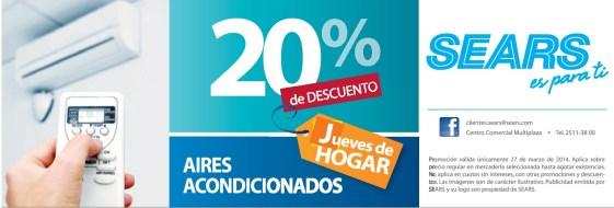 Jueves de hogar DESCUENTO air conditioning SEARS - 27mar14