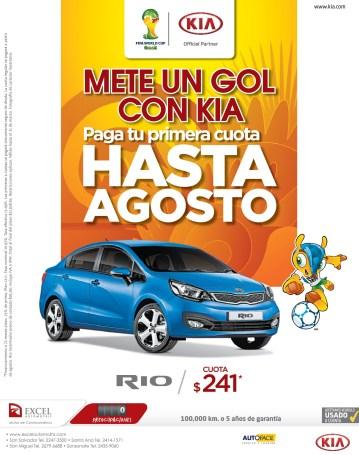 KIA RIO 2014 mete un gol hasta en agosto