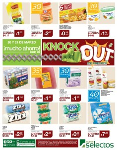 KNOCKUOT de precios DESCUENTO SUPER SELECTOS - 20mar14