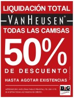 Liquidacion TOTAL camisas VAN HAUSEN Big factory outlet - 22mar14