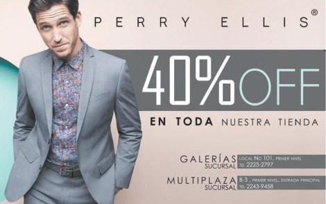 PERRY ELLIS el salvador 40 OFF galerias y multiplaza - 07mar14