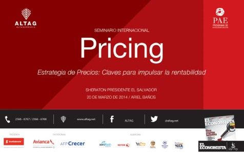 PRICING estrategia de precios seminario