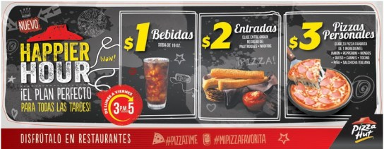 Pizza Hut el salvador PROMOCION HAPPIER HOUR - 10mar14
