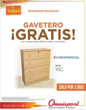 Promocion GAVETERO GRATIS gracias a OMNISPORT sv - 28mar14