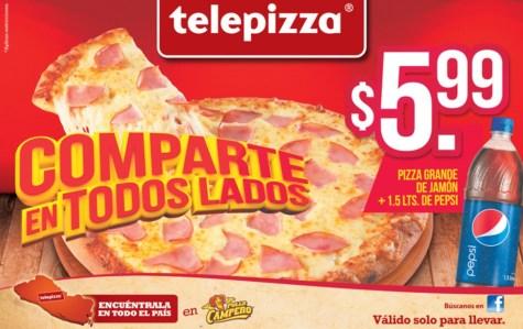 Promocion delivery TELEPIZZA el salvador