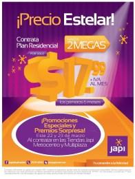Promociones especiales premios sorpresas INTERNET JAPI sv - 22mar14