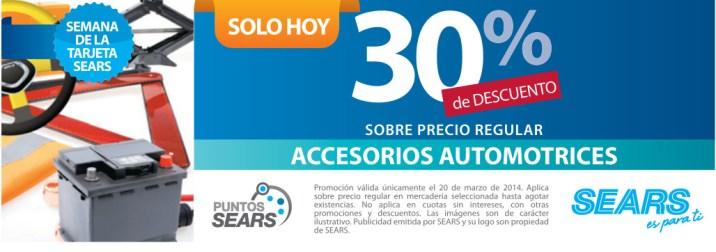 SEARS descuento de hoy ACCESORIOS AUTOMOTRICES - 20mar14