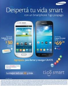 Samsung Galaxy S4 MINI promocion TIGO el salvador - 13mar14