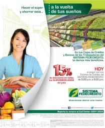 Sistema Fedecredito DESCUENTO en supermercados el salvador - 20mar14
