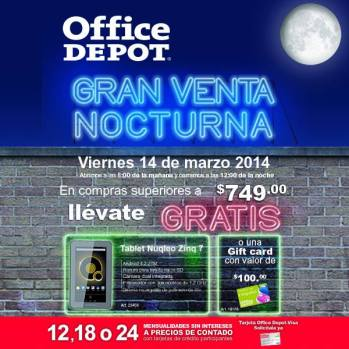 Tablet NUQLEO gratis office depot el salvador - 13mar14