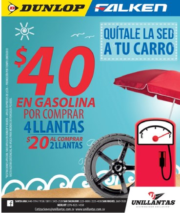 UNILLANTAS promocion tire DUNPLOP FALKEN - 04mar14
