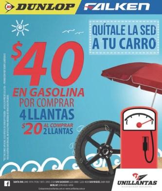 UNILLaNTAS promocion llantas mas gasolina en vacacciones - 26mar14