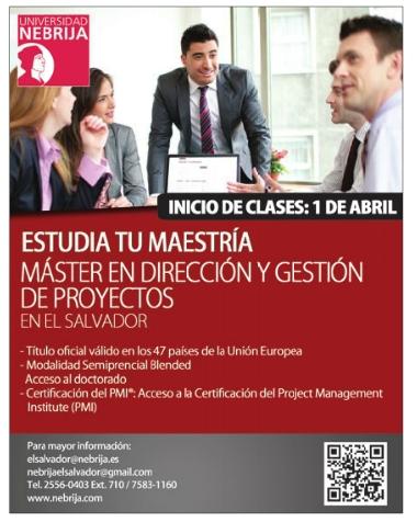 Universidad Nebrija MASTER direccion y gestion de proyectos