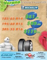 VERANO 2014 ahorro y seguridad TIRES Michelin llantas - 03mar14