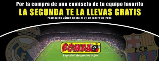 camisetas REAL MADRID o BARCELONA en almacenes boomba - 21mar14