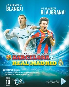 ganar camisetas BARCELONA y Real Madrid gracias a GRUPO DUTRIZ multimedia