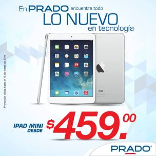 iPAD mini apple OFERTA Almacenes PRADO el salvador - marzo 2014